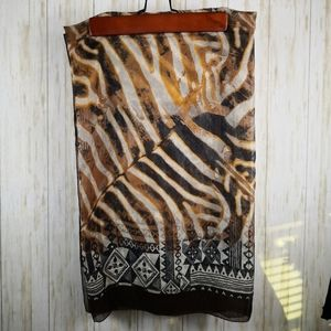 Carol Wior Scarf or Swimsuit wrap Zebra Print